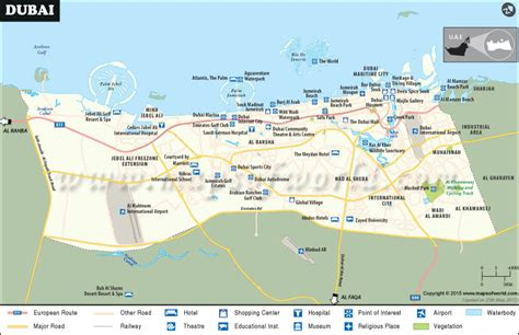 map of dubai dubai city map world cities and their maps