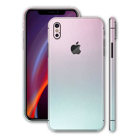 iphone screen changing colors iphone x chameleon amethyst skin wrap decal easyskinz
