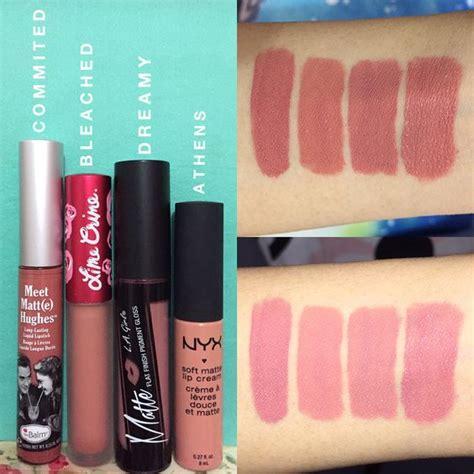 Lipstik Nyx Dan La dupe pinks l r thebalm meet matt e hughes liquid lipstick commited lime crime
