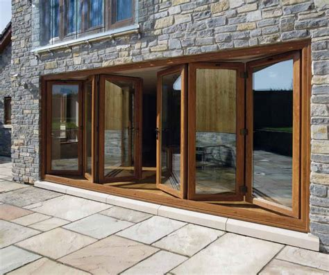 Wooden Patio Doors 17 Best Ideas About Wooden Bifold Doors On Bi