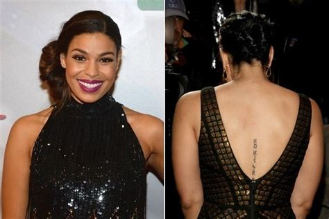 jordin sparks spine tattoo jordin sparks is zipped up the 50 most stylish celebrity