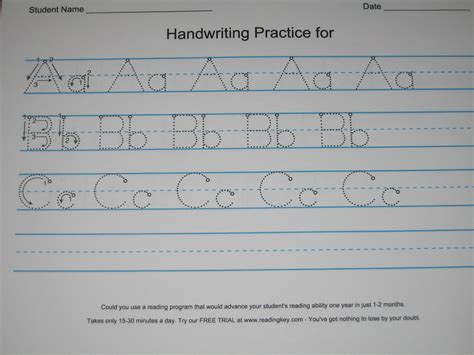 Make Your Own Handwriting Worksheets