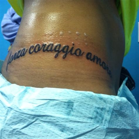 italian tattoo quotes about strength my tattoo now strength courage love in italian tattoos