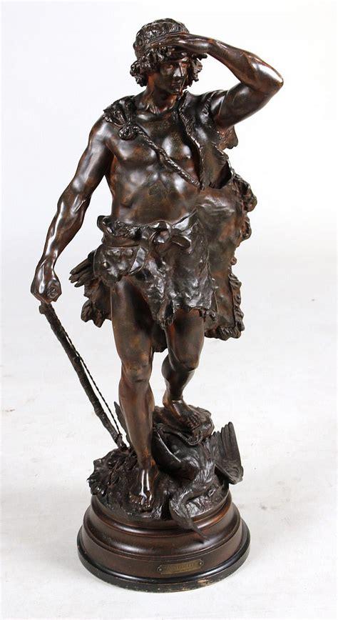 Spelter L by Spelter Sculpture Quot En Vedette Quot Auguste Moreau