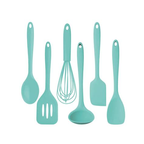 Kitchencraft Silicone Cooking Utensil Set Pastel Green Silicone Kitchen Utensils Set