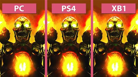 doom 3 console doom pc max vs ps4 vs xbox one graphics comparison