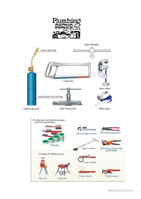 Plumbing Lessons plumbing worksheet free esl printable worksheets made by