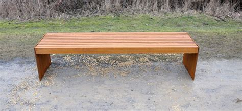 corten bench bench kalmar manufactured from corten steel
