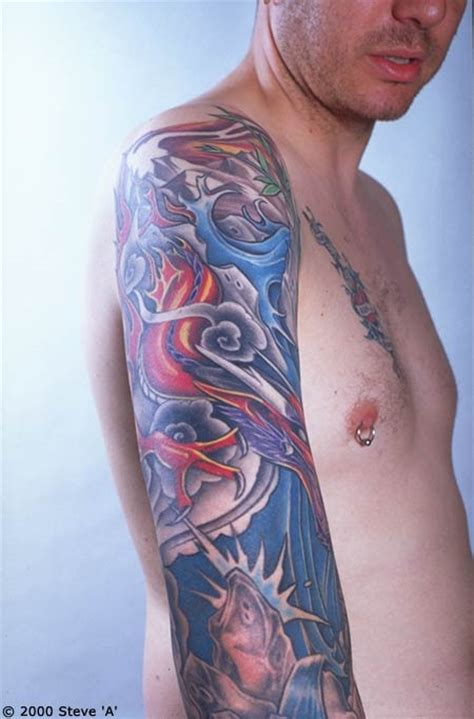 japanese style sleeve tattoo designs blessing of god japanese sleeve design