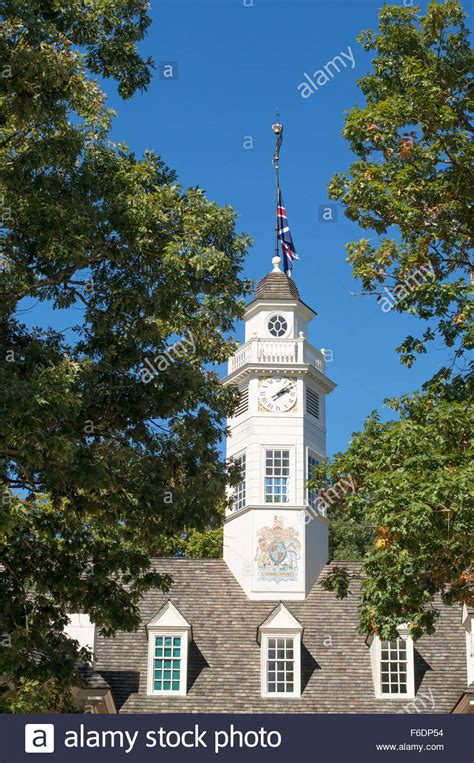 the capitol building clock tower colonial williamsburg
