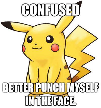 Pokã Memes - funny pikachu pokemon confusion pokememe hurt itself