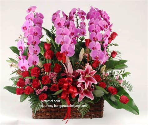 desain bunga segar 50 contoh rangkaian bunga segar cara merangkai ala