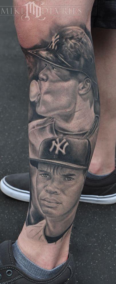 new york tattoo black and grey mike devries tattoos celebrity arod robin cano healed