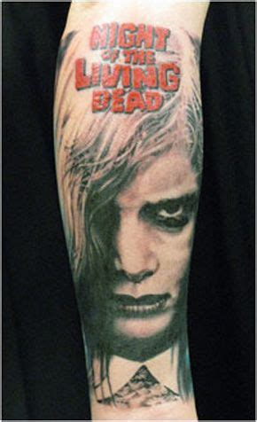 horror zombie tattoo on foot real photo pictures images horror tattoos night of the living dead http www