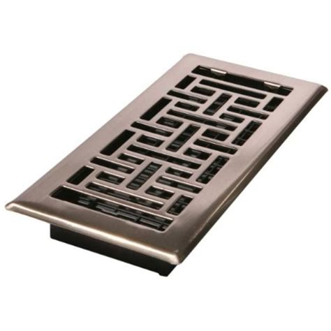 Brushed Nickel Bathroom Vent Cover Decor Grates Decor Grates Ajh410 Nkl 4 Inch By 10 Inch