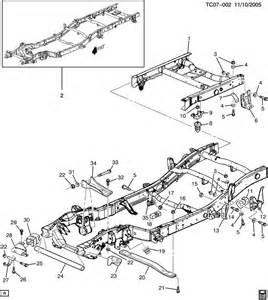Chevrolet Parts Replacement Silverado Frame Repair Sections Auto Parts Diagrams