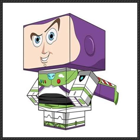 Story Papercraft - story buzz lightyear cube craft free paper