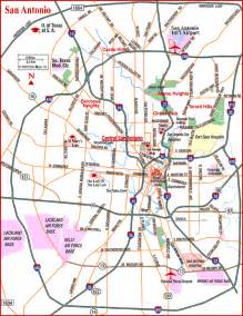 san antonio map and surrounding areas