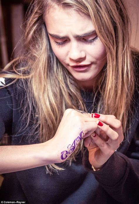 cara delevingne finger tattoo 7teen cara delevigne gets second