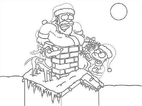 Coloring Pages Of The Simpsons Christmas | the simpsons christmas coloring pages religious