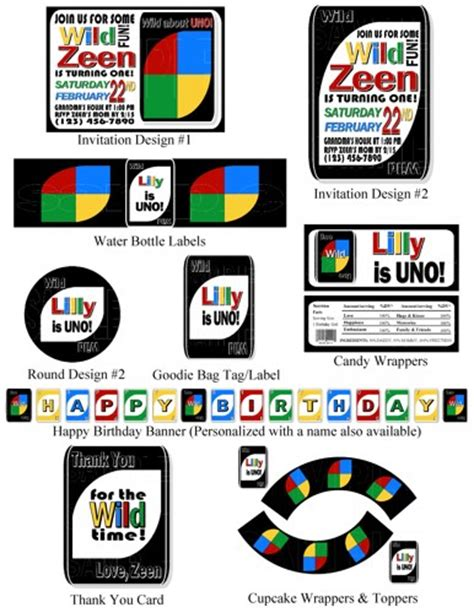 printable uno card game personalized printable uno card game theme photo