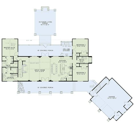 Open Floor Plan Farmhouse by House Plan 82085 At Familyhomeplans Com