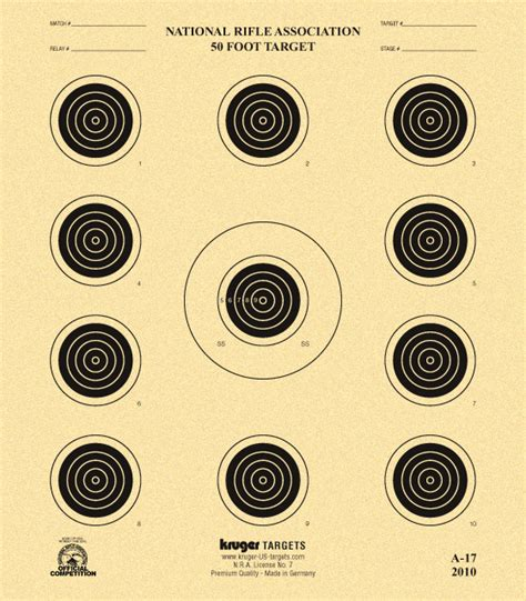 printable competition targets 50 foot target nra a 17 kruger premium targets store