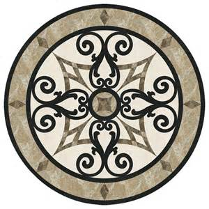 waterjet marble floor medallion tile inlay 24 inches mediterranean floor medallions and