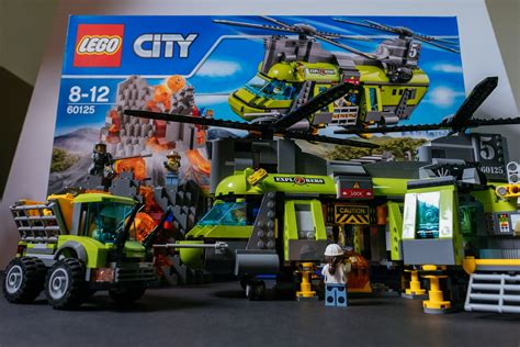 Lego City by Review Lego City Volcano Heavy Lift Helicopter 60125