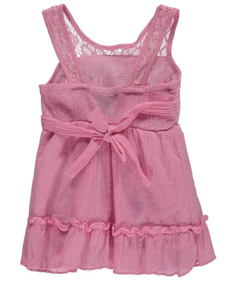limited baby quot metallic flounce quot dress with cover ebay
