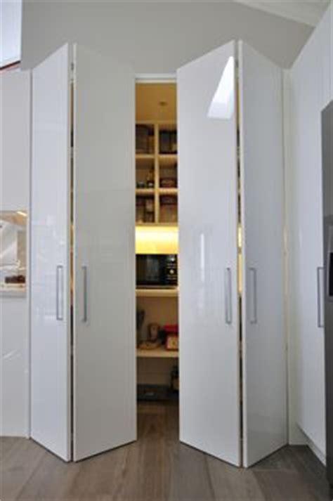 Bifold Pantry Door by Corner Pantry With Bifold Door Kitchen