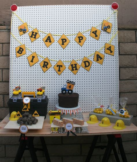 Truck Birthday Decorations by Construction Dump Truck Package Birthday Decorations