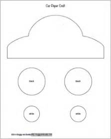 Templates For Cars by Paper Car Craft For Using Sponge Painting Buggy And