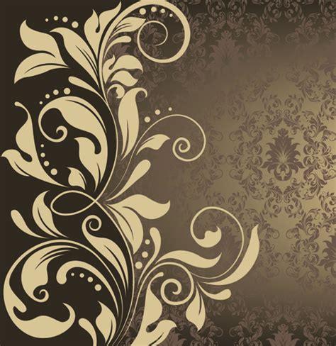 vintage flower pattern background vector art ornate vintage floral vector backgrounds art 05 free