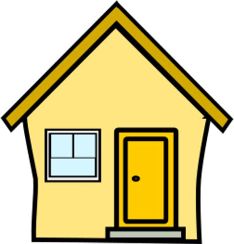 cliparts haus yellow house clipart clipart best