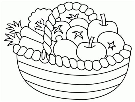 a basket of fruits colouring pages page 2 1