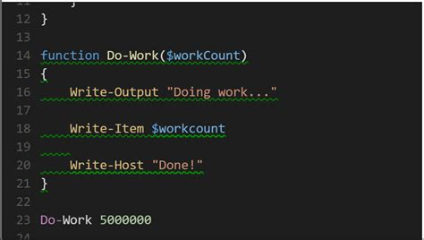 powershell comment section announcing powershell language support for visual studio