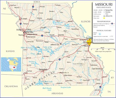 map of us states missouri missouri usa map