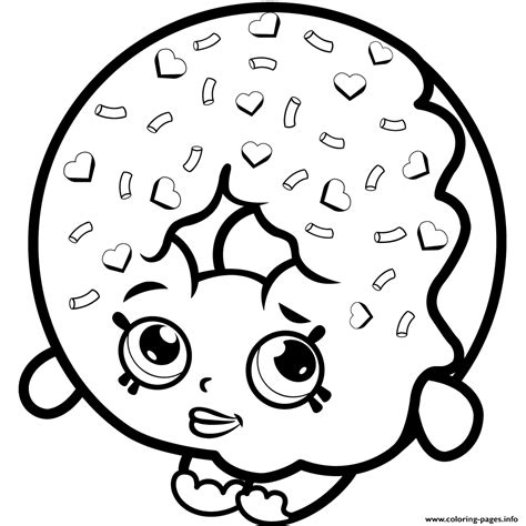 Shopkins Donut Coloring Page | d lish donut shopkins season 1 to print coloring pages