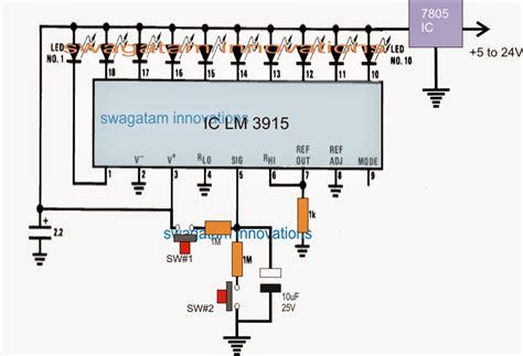 led volume indicator circuit up led indicator circuit using lm3915