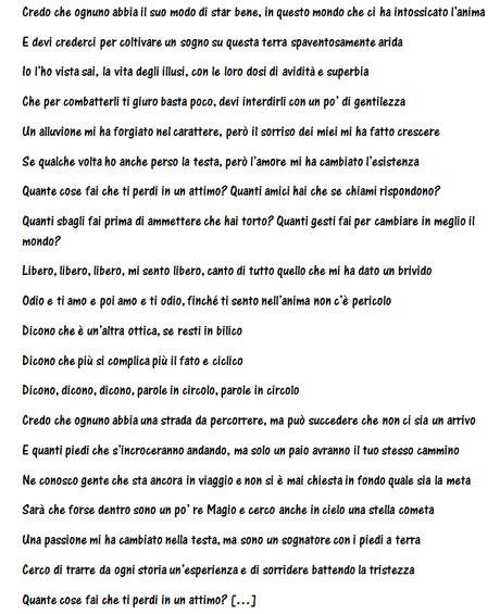 testo canzone parole parole marco mengoni canta se stesso nella nuova canzone parole