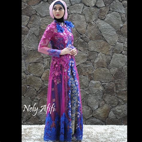 Kebaya Gamis Batik Modern Biru the world s catalog of ideas