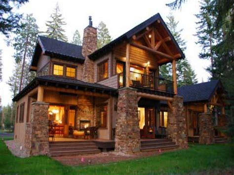 small style homes mountain lodge style home plans small craftsman style