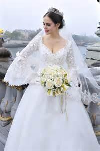 robe de mariã e femme voilã e robe de mari 233 e manche voile