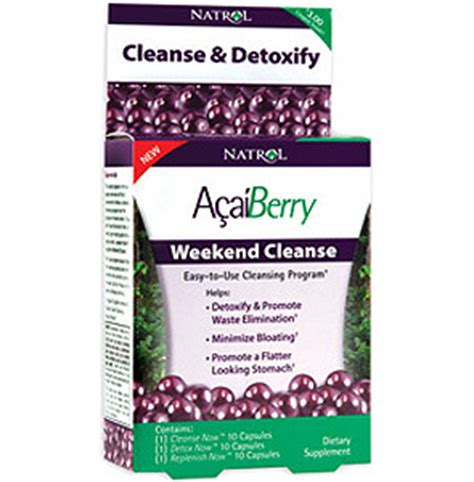 How To Detox In A Weekend by Natrol Acaiberry Weekend Cleanse 1 Kit Vitaglo