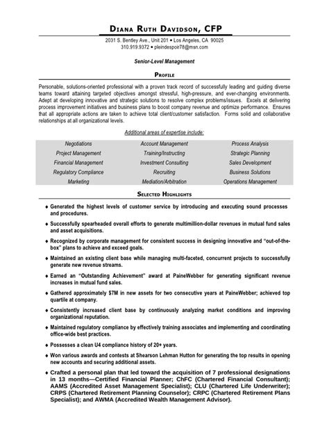 Sle Resume With Professional Designation project manager resume sle doc 28 images construction