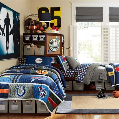 nfl bedroom decor store it bed corner unit sets pbteen
