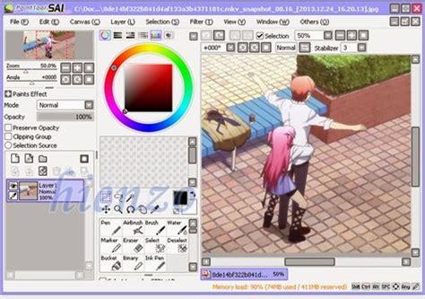 cara membuat paint tool sai version paint tool sai software untuk menggambar anime hienzo