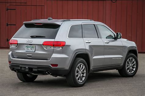 jeep grand cherokee back 2014 jeep grand cherokee v 6 and v 8 first tests truck trend