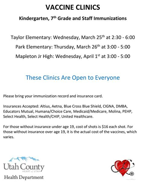 vaccination clinic vaccine clinics nebo school district